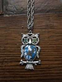 TURQUOISE OWL NECKLACE  Spring Grove, 17362