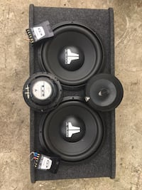 "2x12"" subwoofer + alpine crossovers + högtalare"
