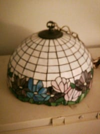 Stained glass ceiling lamp shade