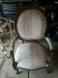white and gray floral padded armchair Livonia, 48150