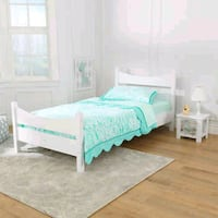 white wooden bed frame with mattress Mississauga, L5M 5B8