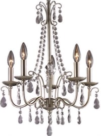 OPEN BOX-NEVER USED BRAND NEW Silver Crystal Chandelier Washington, 20018