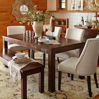 rectangular brown wooden table with six chairs dining set Edmonton, T6K 3Z5
