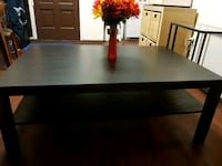 rectangular black wooden coffee table Calgary, T2W 1Y7