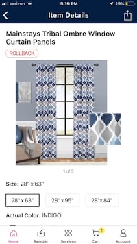 Blue and gray curtain panel set  Simpsonville, 29681