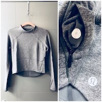 Lululemon grey Crop long Sleeve  Edmonton, T5T 4N2