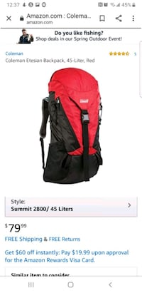 Hiking backpack  Arlington, 22203