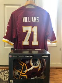 Trent Williams signed jersey and helmet Potomac, 20854