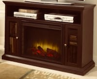 Brown and black electric fireplace Surrey, V4N 0E9