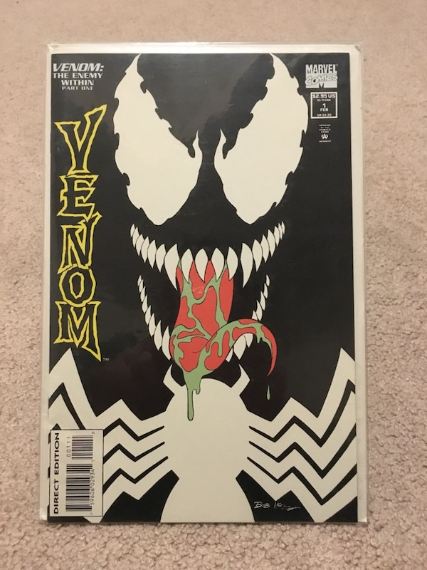Venom: The Enemy Within series comic books (1/3 glow in the dark cover)