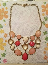 gold-colored necklace with brown stone pendant Killeen, 76541