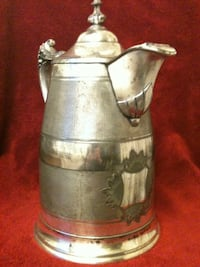Silver plated vintage 1868 water pitcher Hummelstown, 17036