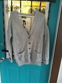 gray Oyisis knit button-up cardigan Dunnville, N1A 1P4