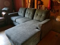 Couch with chaisse lounge.  Toronto, M6H 3A1