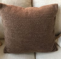 set of 2 POTTERY BARN 20x20 chocolate brown chenille throw pillow covers Tustin, 92782