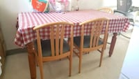 brown wooden framed padded chairs Kansas City, 64108