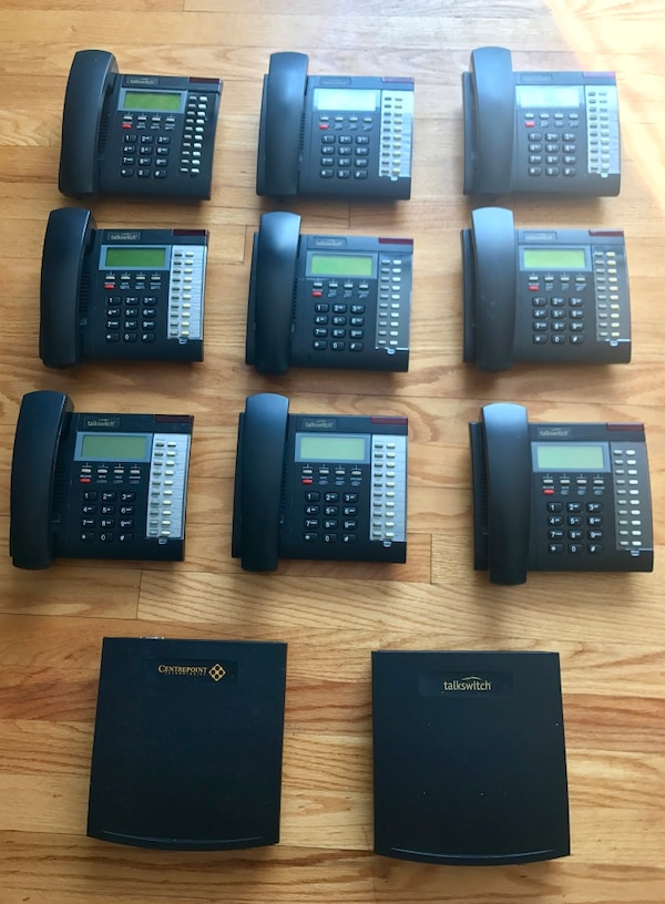 Centerpoint Phone Number >> 2 Talkswitch Centerpoint Pbx Line Telephone System With 9 Ts200 Phone Great Condition