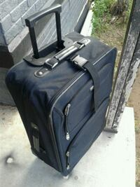 black and gray softside luggage Lubbock