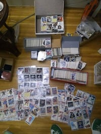 Thousands of hockey/basketball cards