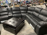 New leather power 3 recliner sectional PRICE IS FIRM Modesto, 95350