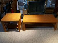 Coffee table & 2 matching end tables Delta, V4M 2S3