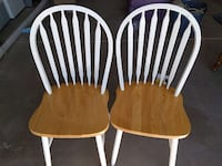 2 white-and-brown wooden windsor chairs Phoenix, 85048