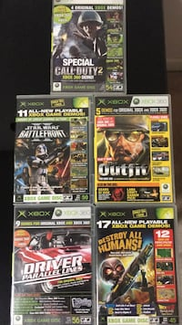 5 XBOX Demo Discs # [PHONE NUMBER HIDDEN] . Total of 46 demo games on all discs.