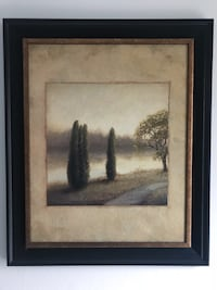 black wooden framed painting of trees Mississauga, L5A
