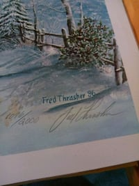 Ky artist fred thrasher signed print  Louisville, 40229