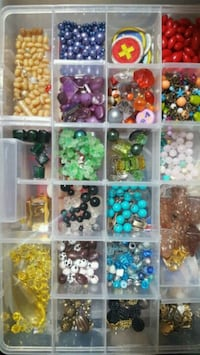 assorted glass beads and plastic Lancaster, 93535
