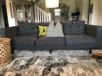 Mid century couch for sale-slate grey Carmel