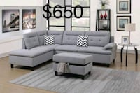 gray sectional sofa with throw pillows Castaic, 91384