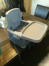 baby's white and blue high chair Tulsa, 74134