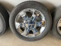 GMC 19 inch Tires with Chrome Rims