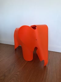 Children's elephant chair. Orange. Eames replica. Sausalito, 94965