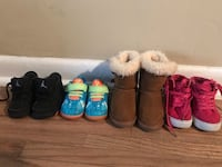 three pairs of assorted shoes 1079 mi