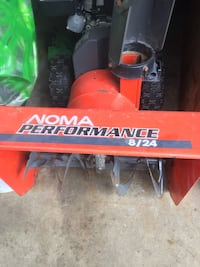 """Noma 24"""" snow blower. Gas also electric start."""