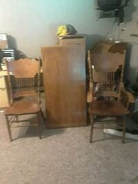 brown wooden table with chairs Parsippany-Troy Hills, 07054