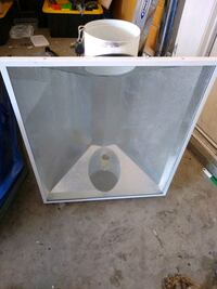 Grow light hood