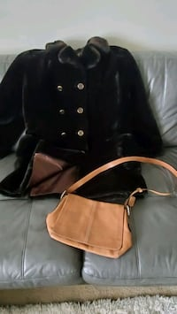 Fur Coat and Coach bag
