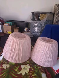 Two new pink lamp shades Silver Spring, 20906