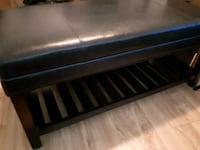 Leather bench with shelf Montreal, H4L 4E4