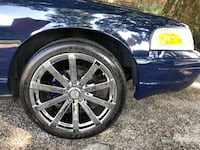 "Four 20"" chrome velocity wheels and tires"