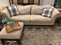 Couch and Love Seat and ottoman