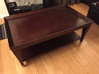 Solid Red Wood Coffee Table Pickering, L1V 6H2