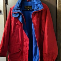 red and blue zip-up jacket SPOKANE