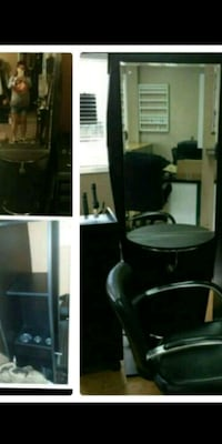 3 sided black  vanity table/ hair cutting statio  Albany, 97321