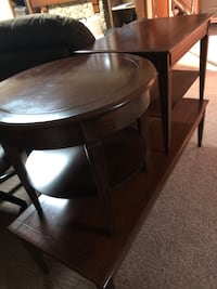 3 piece end table and coffee table solid wood