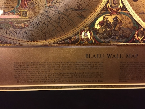 Used framed gold foil blaeu wall map of old and new world for sale 15 publicscrutiny Images
