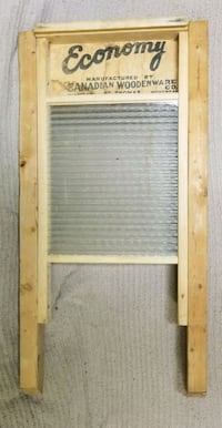 Antique Vintage Canadian Woodware Glass Washboard Toronto, M9N